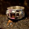 Smoky Quartz - 925 Sterling Silver - Size 6 (L 1/2) Ring 7