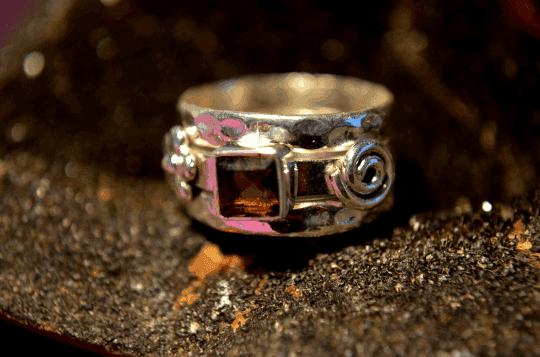 Smoky Quartz - 925 Sterling Silver - Size 6 (L 1/2) Ring 1