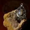 "Rainbow Moonstone - 925 Sterling Silver Pendant - 1 3/4"" 6"