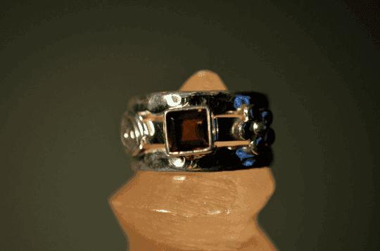 Smoky Quartz - 925 Sterling Silver - Size 6 (L 1/2) Ring 8