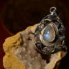 "Rainbow Moonstone - 925 Sterling Silver Pendant - 1 3/4"" 5"