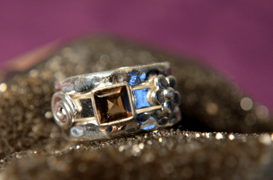 Smoky Quartz - 925 Sterling Silver - Size 6 (L 1/2) Ring 9