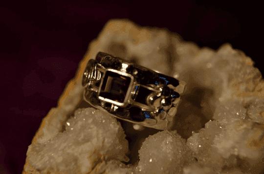 Smoky Quartz - 925 Sterling Silver - Size 6 (L 1/2) Ring 11