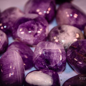 Chevron Amethyst Tumbled Stones - Steven North