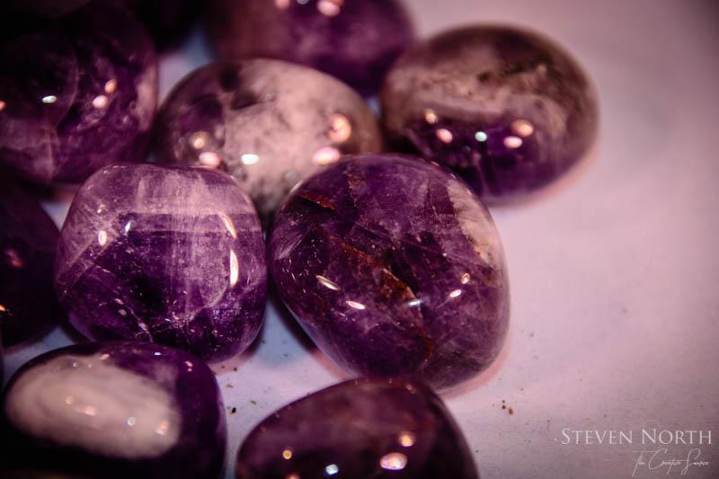 Chevron Amethyst Tumbled Stones 2