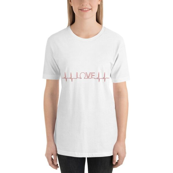 Love Heartbeat - Short-Sleeve Unisex T-Shirt 1