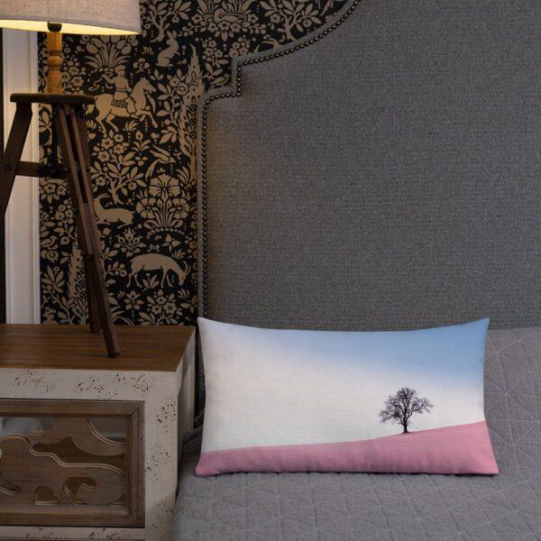 Pink Tree Hill - Premium Pillow 1