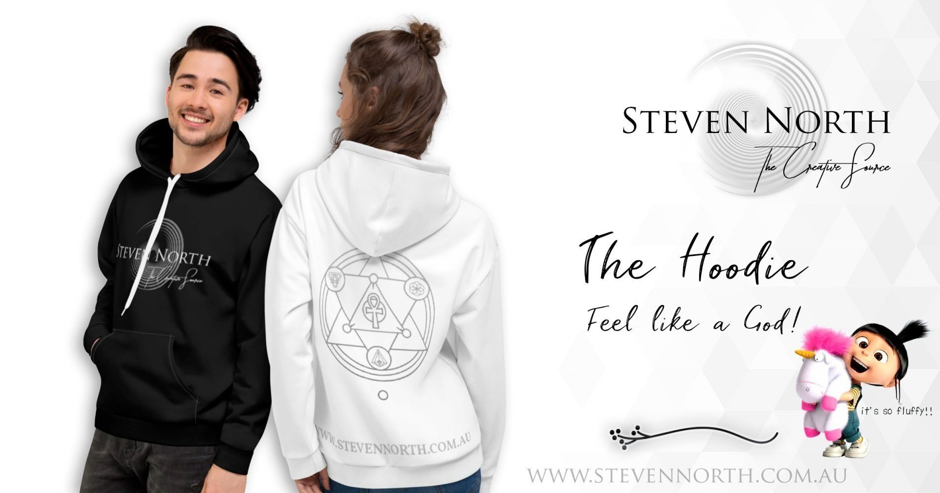 The Steven North Hoodie (White) 8
